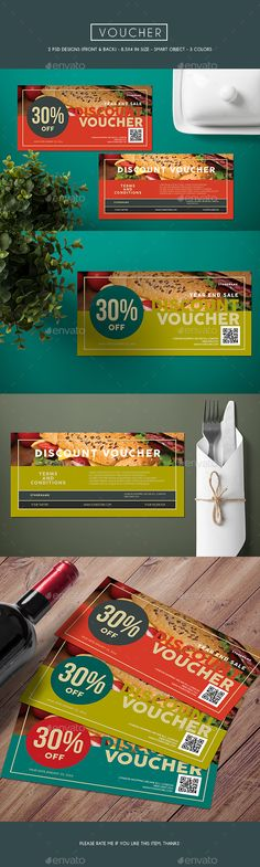 Voucher Card Template PSD #design Download: http://graphicriver.net/item/voucher-card/13403600?ref=ksioks