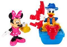 Fisher Price - Disney mickey mouse clubhouse - fishing Minnie & donald figures