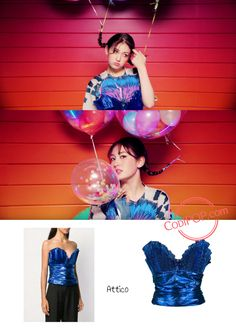 """Jeon Somi's fashion looks in her solo debut MV """"Birthday"""" showcased the different sides she has through fashion. K Pop, Theme Ideas, Party Ideas, Jeon Somi, Bustier Top, Blackpink Jennie, Metallic Blue, Kpop Girls, Girl Group"""