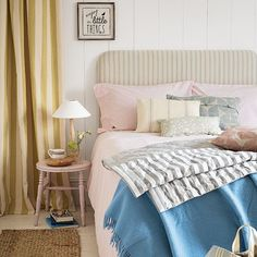 Pastel shades are not just for summer! We love this cosy bedroom scheme