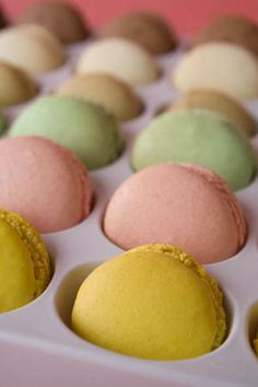 [Miraculously Smiling Easter Card] And no party is complete without macarons!....Can you tell I love macarons? :)