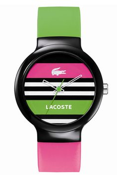 Lacoste  Goa  Stripe Silicone Strap Watch available at  Nordstrom Lacoste  Clothing 11d27722d7