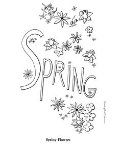 spring coloring pages and crafts flowers pinterest spring and craft