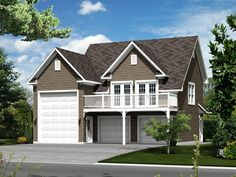 Modern Garage With Apartment Above plan 69618am: contemporary garage plan | modern garage, garage