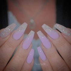 Instagram media by nailsbyeffi - #purple #gel #glitter #notpolish #nailsbyeffi #gelenaglar #göteborg
