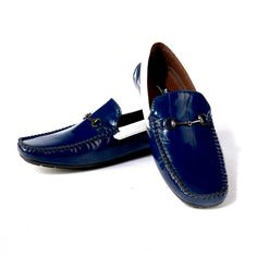 Buy Blue Driving shoe with contrast @ INR 1639/-#DrivingShoes #Moccasins #MenShoes #BlueShoes  www.prideswalk.com