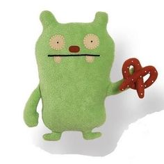 GUND UGLY DOLL FOODIES JEERO PRETZEL 11 INCH PLUSH UGLY DOLL #GUND
