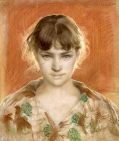 Artwork by Finnish painter, Albert Gustaf Aristides Edelfelt Social Art, Hyperrealism, Photorealism, Portraits, Art Techniques, Great Artists, Female Art, Art Images, Illustration Art