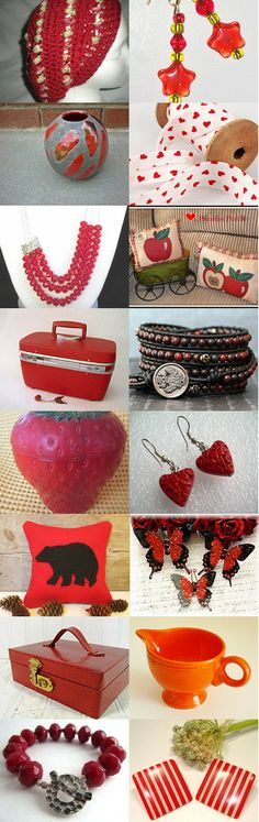 Danke, Merci, Thank You in Radient Red by Betsy Keep on Etsy--Pinned with TreasuryPin.com