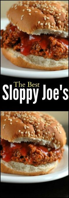Not your Mama's Sloppy Joe's!  These homemade ones are SO much better than that stuff you ate as a kid!  I love that they can be made on the stove top or slow cooker!  SO GOOD!