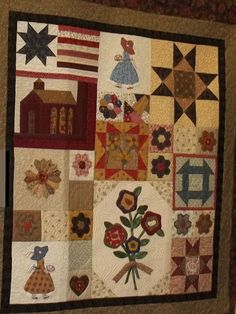 the cottage houses quilt | Extra blocks from the Raffle Quilt go into a wall hanging which our ...