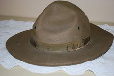 Vintage Boy Scout Campaign Hat fr AGlimpseFromthePast on Etsy