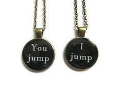 SET OF 2 Silver Friendship Necklaces - Set of Two Friendship Necklaces Friendship Necklace Set Best Friend Jewelry Personalized Gift - Best Friend Necklace – Friendship Necklaces – Friendship Gift – You Jump I Jump Set Of 2 – - Bff Necklaces, Best Friend Necklaces, Best Friend Jewelry, Friendship Necklaces, Friendship Gifts, Friend Friendship, Best Gifts For Girls, Presents For Best Friends, Diy Gifts For Friends