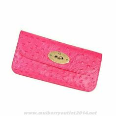 New Womens Mulberry Postman s Lock Contental Luxurious Purse Red Fast Shipping