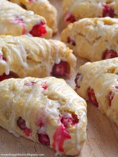 Cranberry Orange Scones 2 c. flour 1 T sugar 2 t baking powder 1/2 t salt 1/4 c. butter 1/2 c. heavy cream 1 egg 1 c. Ocean Spray® Craisins® Original Dried Cranberries 2 t orange zest Sugar Mix dry ingredients, work butter in with pastry blender, add remaining ingredients mixing until dry ingredients are moist, turn on lightly floured surface, pat into a circle 3/4-inch thick, cut into 8 wedges. Place on greased cookie sheet. Sprinkle with sugar. Bake 12 minutes in a 425ºF or until golden…