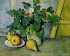 Paul Cézanne, Pot de fleurs et poires, 1888-1890, huile sur toile, 46x 56 cm, Londres, Courtauld Institute