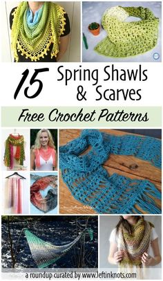 Sometimes spring doesn't come as quickly as you'd like it to! Check out all of the free crochet patterns for beautiful spring shawls and scarves to help you transition your wardrobe from winter to spring. From one skein wraps to intricate shawls, there is a free crochet pattern for every wardrobe! Some patterns even have a video tutorial to get you started. #crochet #crochetpattern #freecrochetpattern #crochetshawl