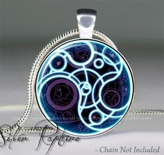 """Doctor Who """"Time Lord Seal"""" pendant, Dr Who jewelry,Doctor Who Tardis necklace charm, Who jewellery - love this one too"""