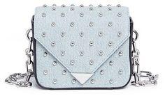 Alexander Wang 'Prisma' mini denim stud envelope sling bag