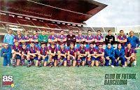 F. C. BARCELONA - Barcelona, España - Temporada 1970-71 - Plantilla del Barcelona, que, en esta temporada, con Vic Buckingham de entrenador, se clasificó 2º en la Liga y ganó la Copa