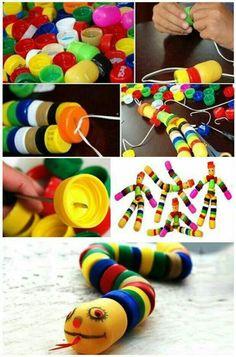 Diy pop bottle top toys