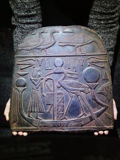 ANCIENT EGYPT EGYPTIAN ANTIQUE Deity Benu Bennu Bird Relief Stela 1075-727 BC