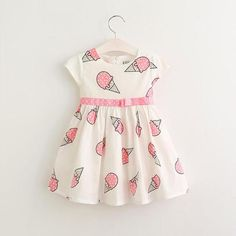 trendy baby clothes Ice Cream Dress-The Trendy Trendy Bunny Baby Girl Dresses, Baby Outfits, Baby Dress, Kids Outfits, Flower Girl Dresses, Flower Girls, Fashion Kids, Cream Dress Outfit, Hipster Baby Clothes