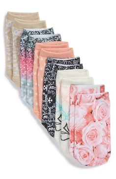 Ruby & Bloom Sublimation Print Low Cut Socks (6-Pack) (Big Kid) available at #Nordstrom