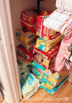 Tips on creating a diaper stockpile | spotofteadesigns.com