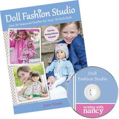 Doll Fashion Studio. Really great book and patterns. I've made several of the dresses with great success! I don't care for her legging construction but everything else I've tried has been great! I like all of my Joan Hinds books/patterns. Older ones were a bit sloppy on the newer AG dolls, just make slight adjustments.**
