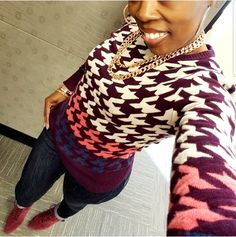 Houndstooth and Burgundy Booties – Pink and Gabulous