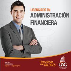 Al ser un Administrador Financiero de la #UAG podrás desempeñarte en empresas industriales, comerciales y de servicios tanto nacionales como transnacionales, además en instituciones financieras, en la función pública federal, estatal o municipal.