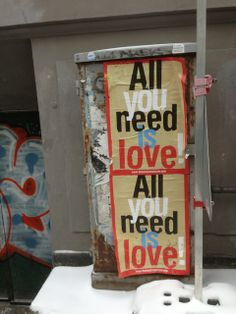 All you need is LOVE - on the streets of snowy Copenhagen www. All You Need Is Love, Copenhagen, Mixed Media, Collage, Live, Travel, Collages, Viajes, Destinations