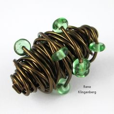 Wire Focal Bead - tutorial by Rena Klingenberg