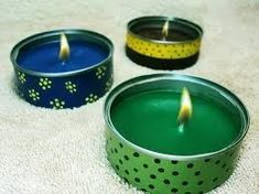Cosas que puedes hacer con latas recicladas - Things you can do with recycled tin cans Recycled Tin Cans, Recycled Crafts, Recycled Clothing, Recycled Fashion, Tin Can Crafts, Diy Crafts To Sell, Handmade Candles, Diy Candles, Recycle Cans