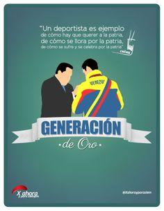 Chávez condecorando a Limardo (Generación de Oro)