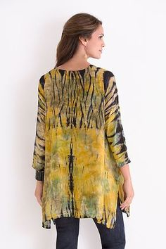 Swallowtail Tunic by Michael Kane: Shibori Tunic available at www.artfulhome.com