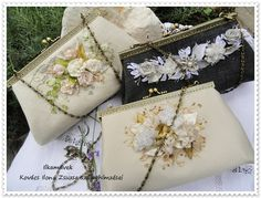Embroidery Purse, Silk Ribbon Embroidery, Frame Purse, Ribbon Art, Fabric Bags, Handmade Bags, Pin Cushions, Small Bags, Cosmetic Bag