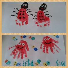 handprint sea animals craft for kids