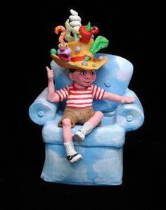 Boy in the Ah-Ha! Hat  Jane Hankins--great Arkansas artist