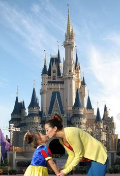 A must have picture for any mummy and her little princess. In front of The Cinderella Castle at Magic Kingdom, Walt Disney World