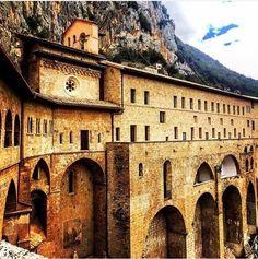Monastério de Santa Scolastica, Subiaco (comuna italiana), Lácio, Roma, Itália