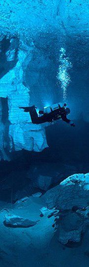 """Ordinskaya Cave, Moscow, Russia - """"Ordinskaya Cave the longest underwater cave in Russia, the second longest underwater cave in Eurasia and the longest in the world cave in gypsum"""" - Courtesy of 'Ordinskaya Cave' Facebook Group"""