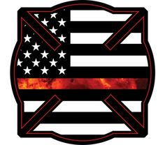 """The term """"Thin Red Line"""" is a symbol used by fire departments to show respect for firefighters injured and killed in the line of duty. Gettin Salty Thin Red Line Squared Firefighter Maltese Decal Samoan Tattoo, Arm Tattoo, Hand Tattoos, Polynesian Tattoos, Tattoo Ink, Firefighter Decals, Volunteer Firefighter, Firefighter Tattoos, Brother Tattoos"""