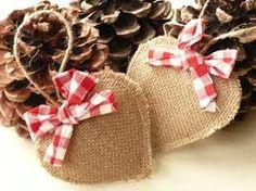 Resultado de imagen para adornos navideños de tela arpillera