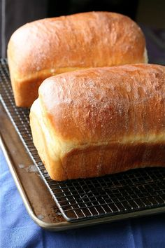 White Bread.  Great for sandwiches!! I love the white bread recipes I have but they aren't great for sandwiches and they dry out quickly.  This recipe is awesome.  It is dense so it holds up in a sandwich, and stays moist longer than any white bread I've made so far. Love it.