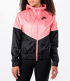 f56477a7f2 Nike Women's Sportswear Windrunner Jacket Pink And Black Nikes, Nike  Windrunner, Windrunner Jacket,