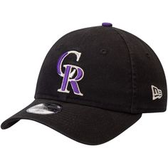 brand new c0542 1cb8d Youth Colorado Rockies New Era Black Core Classic Replica 9TWENTY  Adjustable Hat, Your Price   18.99