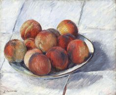 Plate of Peaches, Gustave Caillebotte, Van Gogh Museum, Amsterdam (purchased with support from the BankGiro Loterij), View this artwork Vincent Van Gogh, Ripe Peach, Van Gogh Museum, Heritage Image, Poster Size Prints, Yorkie, The Creator, Photo Gifts, Impressionism
