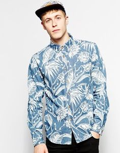 Son Of Wild Shirt in Printed Denim